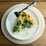Cheesy Chicken Spinach Oven Frittata