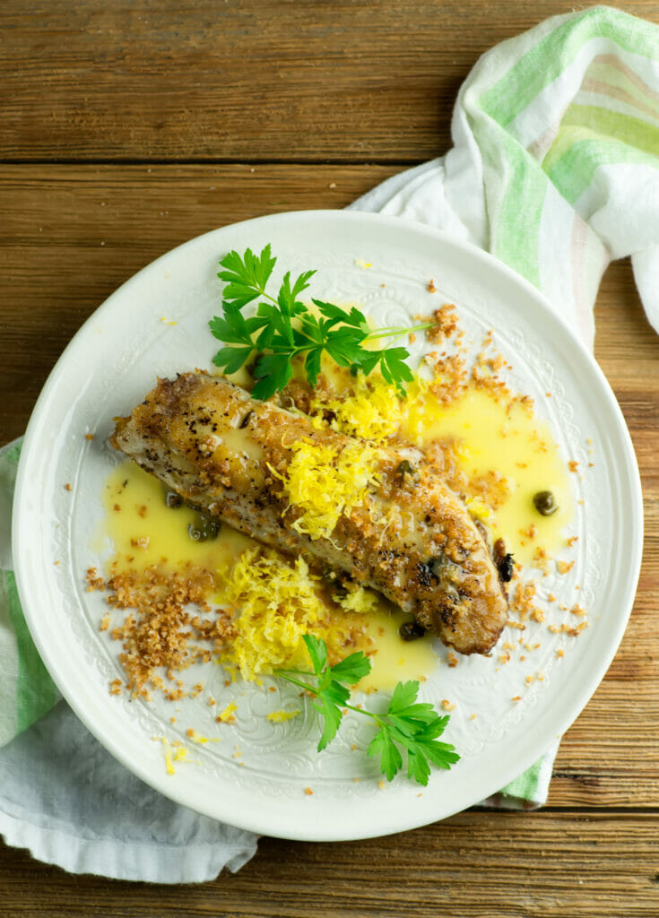 Pan Seared Red Snapper with Lemon Butter Sauce