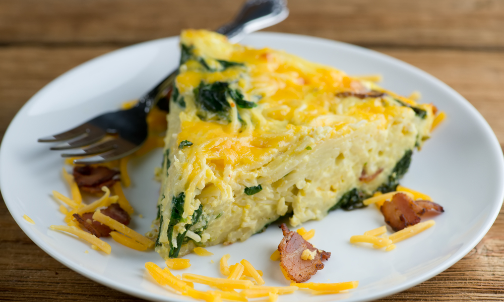 Cheesy Bacon Pasta Frittata recipe