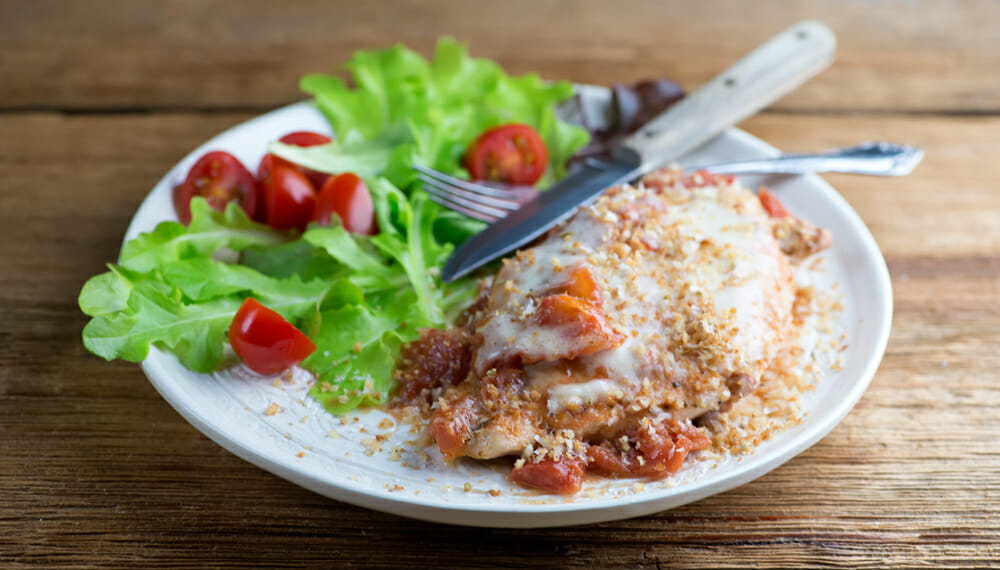 Easy One Pan Chicken Parmesan