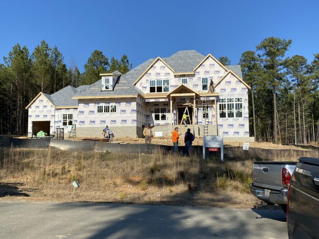 Our Carolina Dream House is framed!