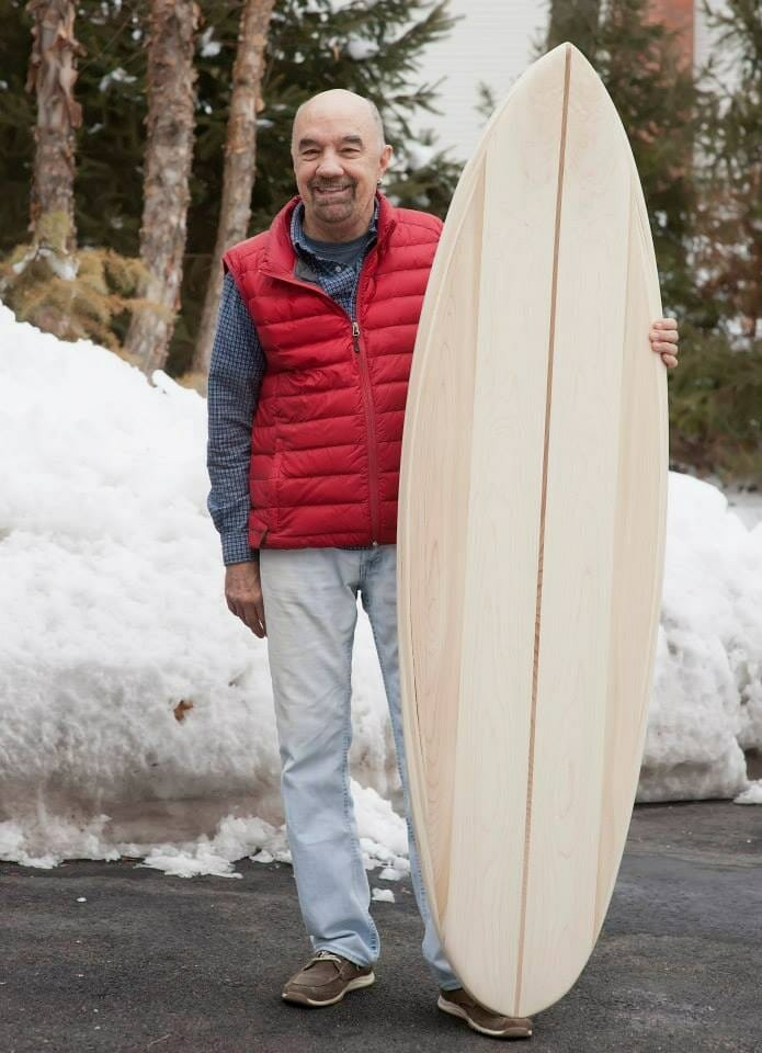 southern husband with surfboard