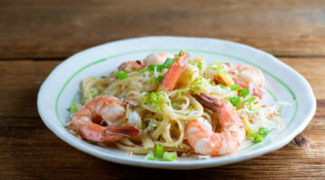 easy toasted coconut shrimp pasta