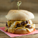 easy nacho cheeseburgers