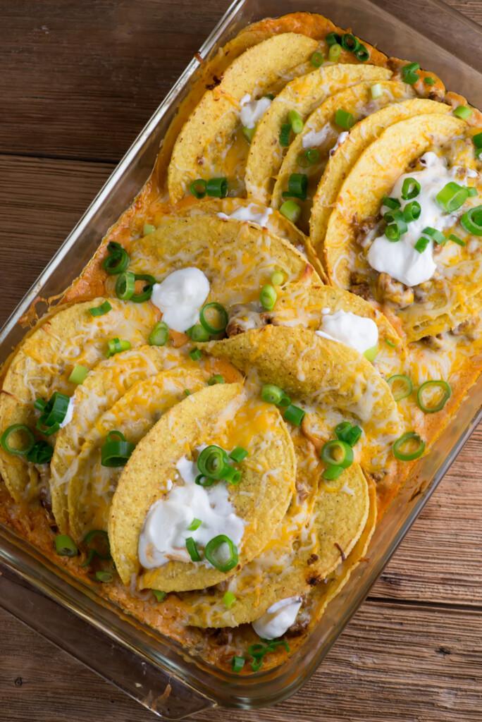 easy beef taco casserole