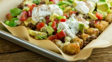 easy cheesy tater tot nachos