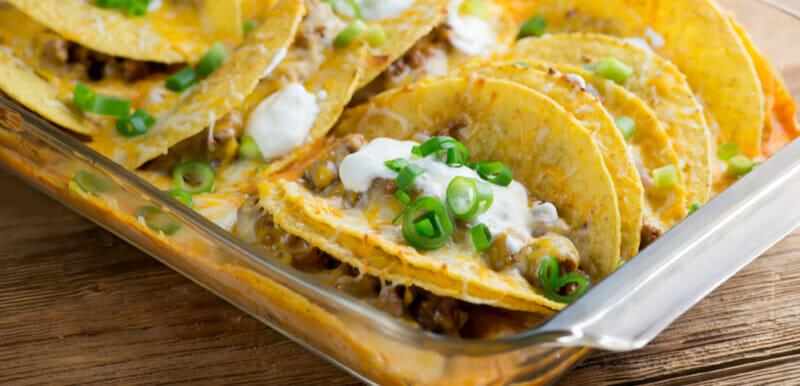 very easy beef taco casserole