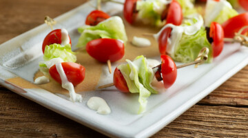 easy wedge salad bites