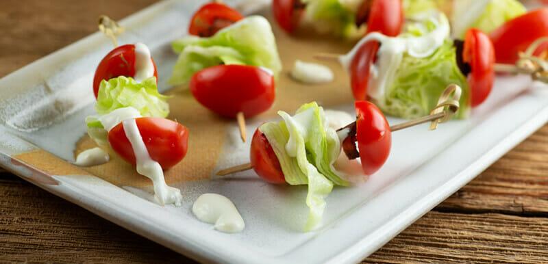 easy wedge salad bites