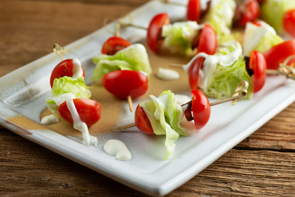 wedge salad bites
