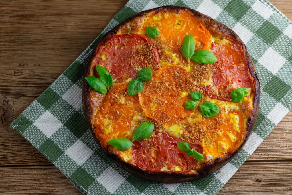 Crustless Tomato Ricotta Tart
