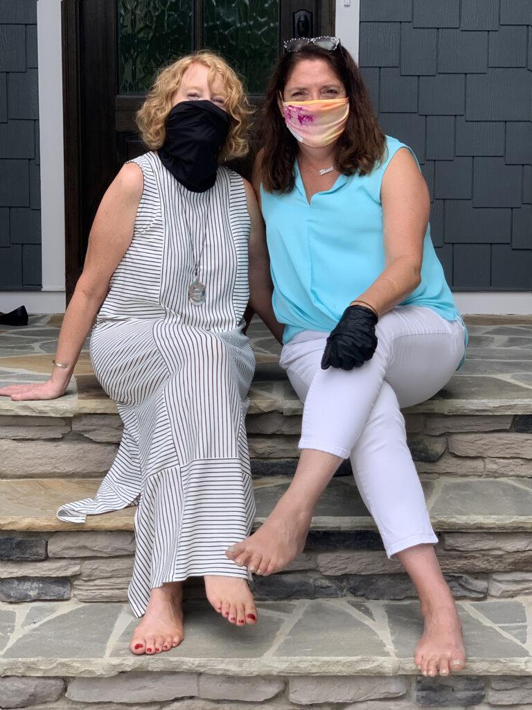 friends in masks