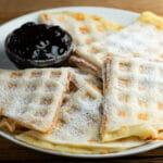 easy waffle iron croque monsieur quesadillas