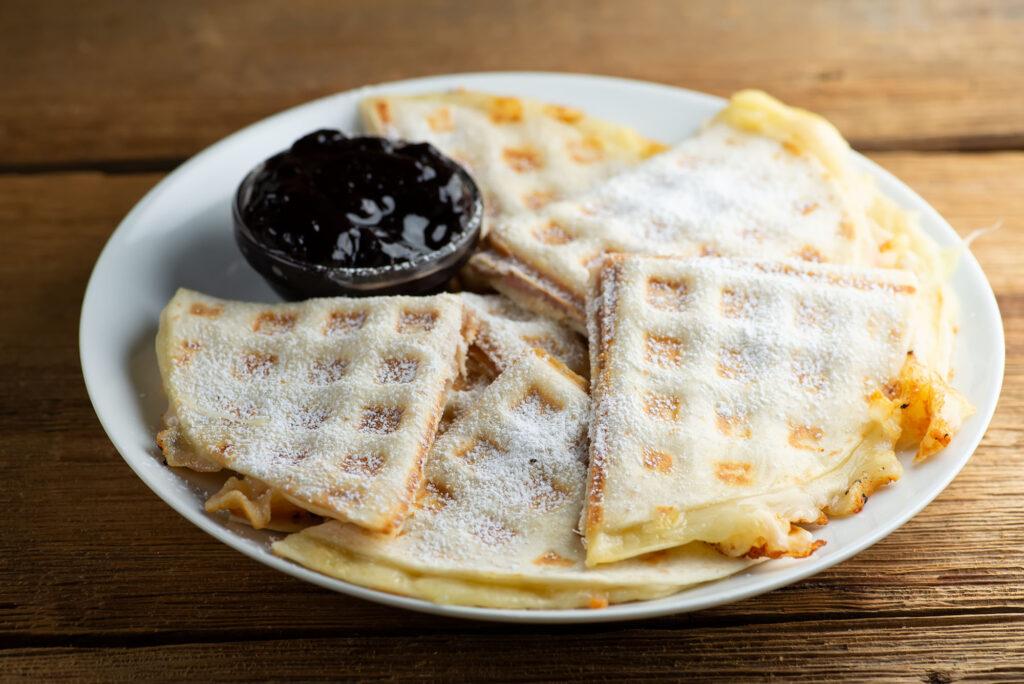 waffle iron croque monsieur