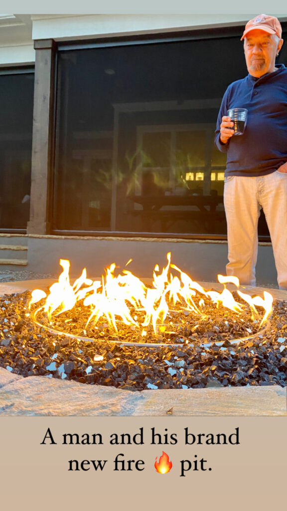 a man and his fire pit