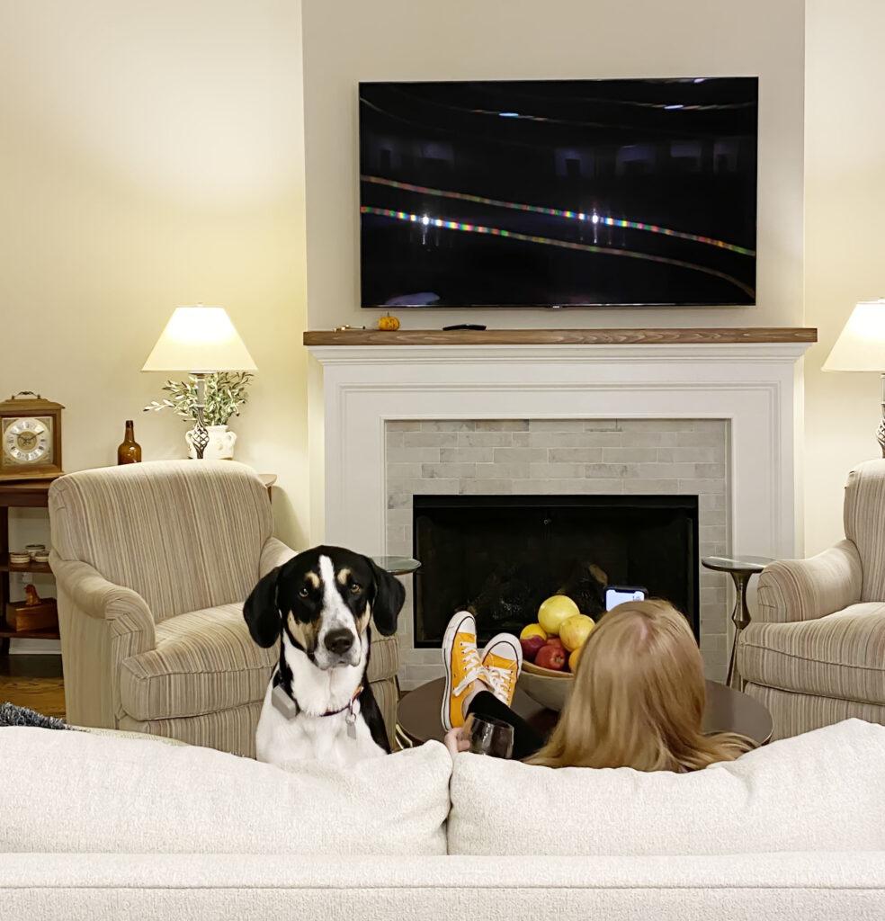 Winnie watching