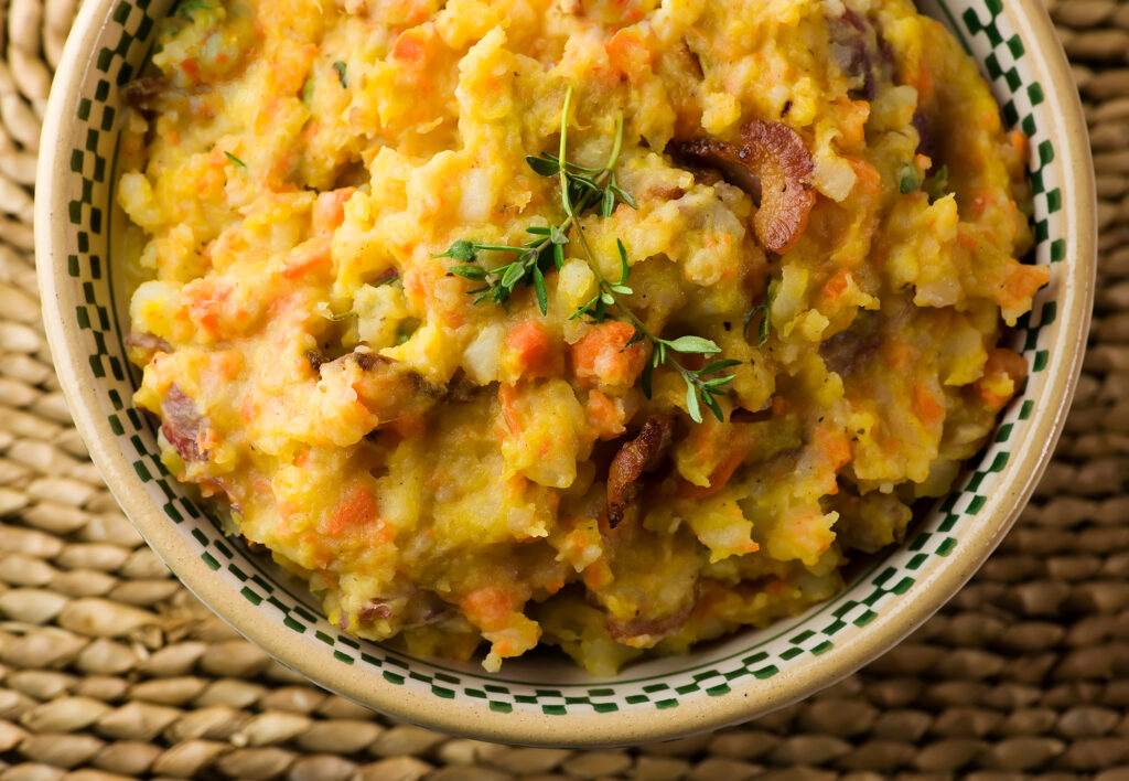 Mashed fall vegetables