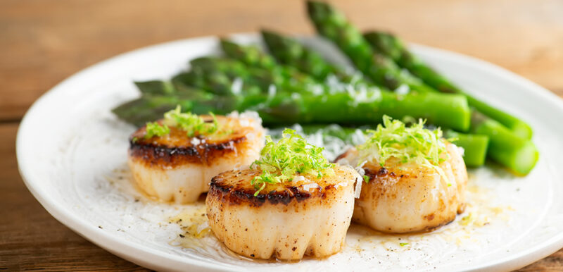 lime parmesan scallops