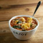 slow cooker chicken tortellini soup
