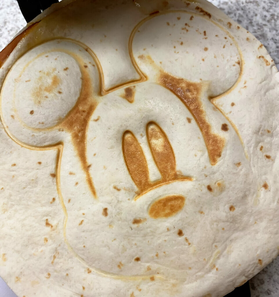 Mickey Mouse Quesadilla