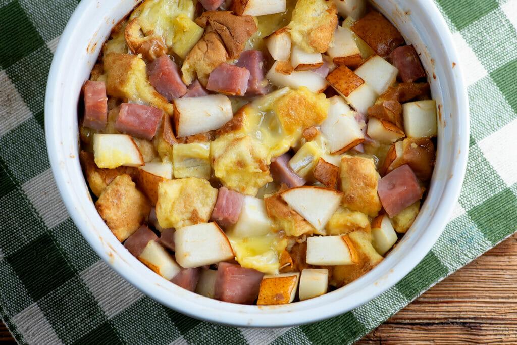 Ham Brie and Pear casserole