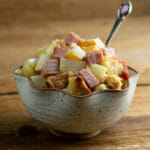 easy Ham, Brie and Pear Casserole