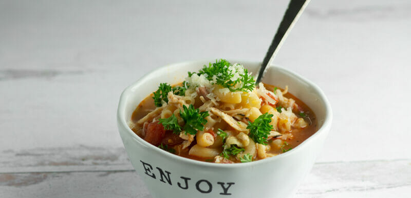 easy chicken and ham tomato soup