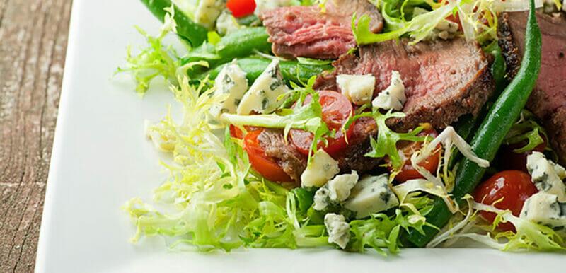 blue cheese steak salad recipe