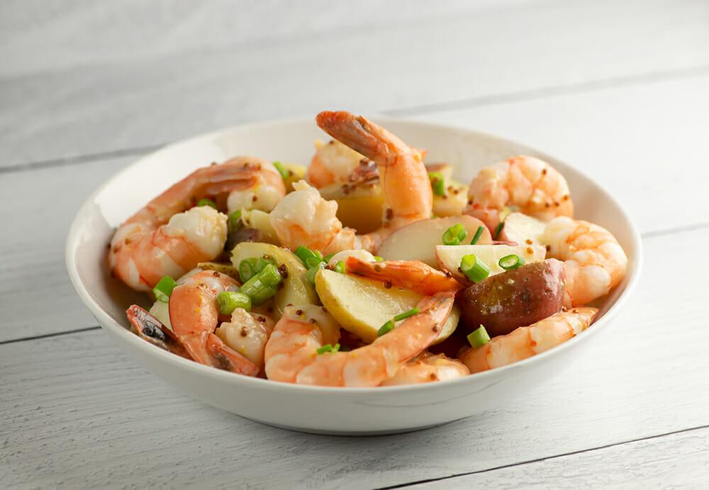 Shrimp Potato Salad with Mustard Dressing