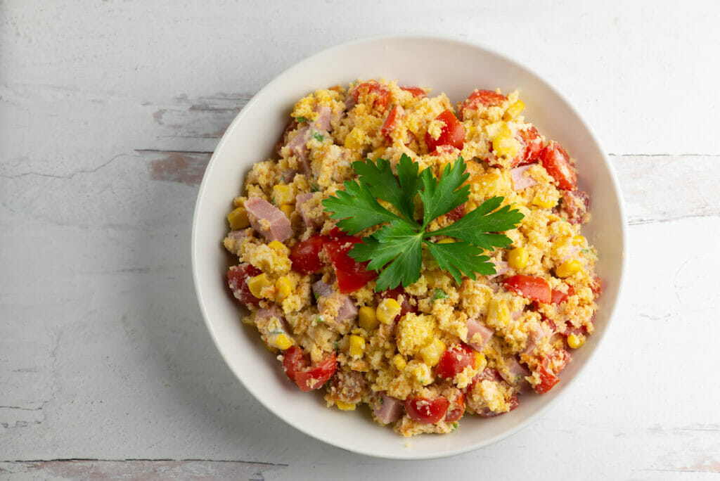 Southern Cornbread Ham Salad