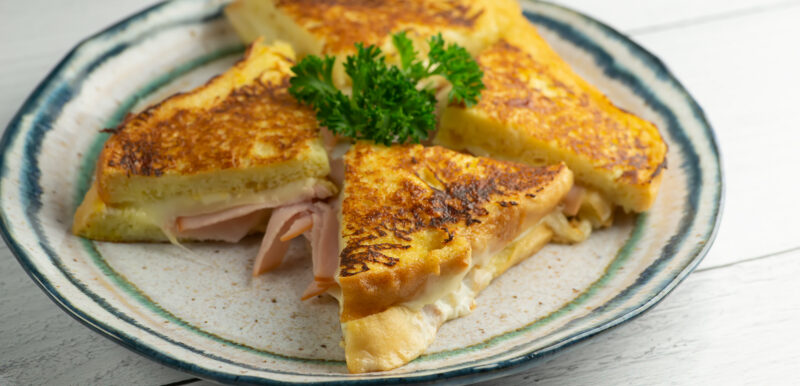 French Toast Grilled Ham and Cheese Sandwiches